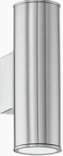 Aplica Eglo Modern Riga LED 2x 3W h20cm Inox imagine sensodays.ro