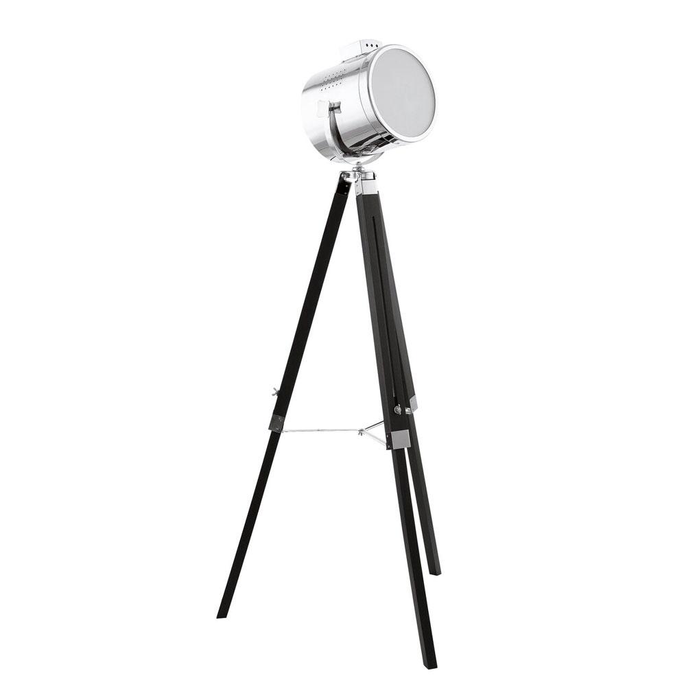 Lampadar Eglo Trend Upstreet 1x60W h98-150cm negru-crom poza