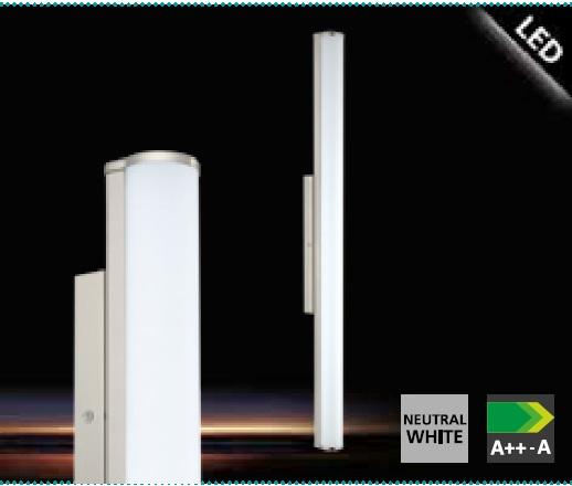 Aplica Eglo Calnova 90cm colectia Style Nichel mat sticla satinata Alb poza