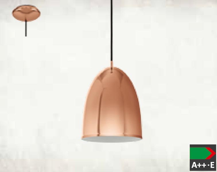 Pendul Eglo Trend Coretto 2 1x 60W h 110cm d 19cm Cupru poza