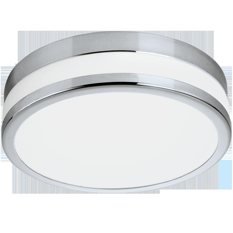 Aplica LED Eglo Style Palermo 24W d29.5cm crom-alb imagine sensodays.ro