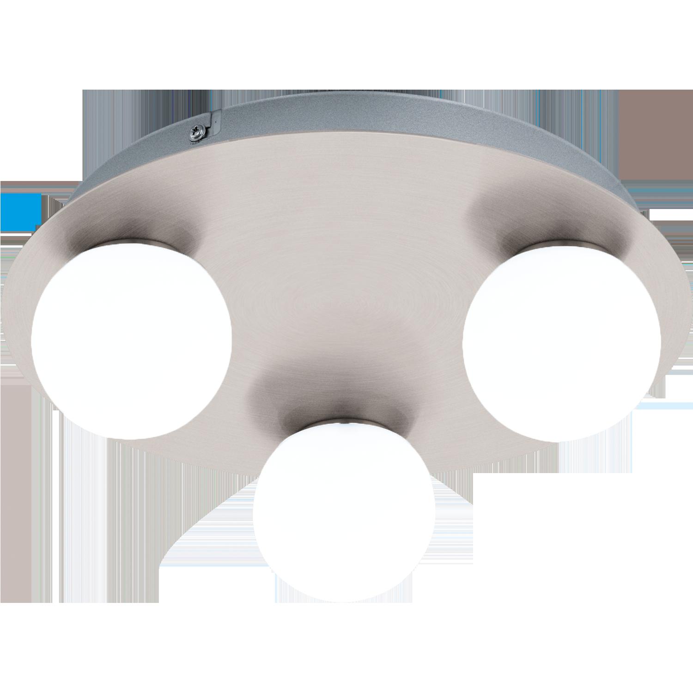 Aplica Led Eglo Style Mosiano 3x3.3w D29cm Nichel-alb