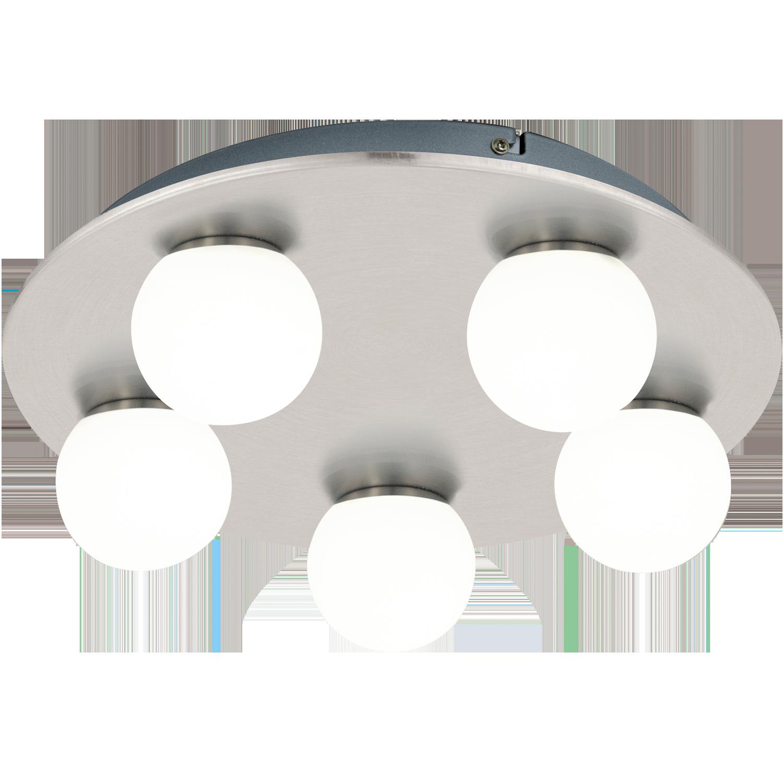 Aplica Led Eglo Style Mosiano 5x3.3w D35cm Nichel-alb