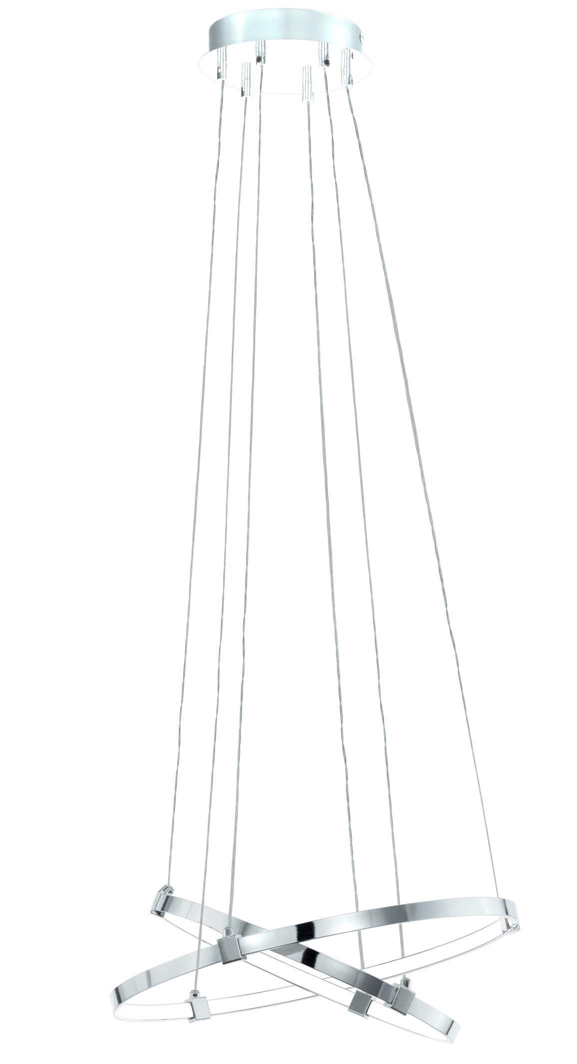 Suspensie Eglo Nebreda 1x6.7W + 1x8.7W LED d 45cm h 120cm crom