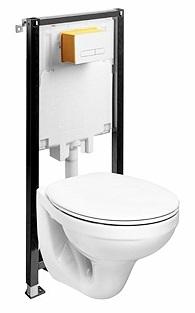 Set vas WC suspendat Kolo Idol M13100 cu rezervor si cadru incastrat Kolo Slim 2 poza