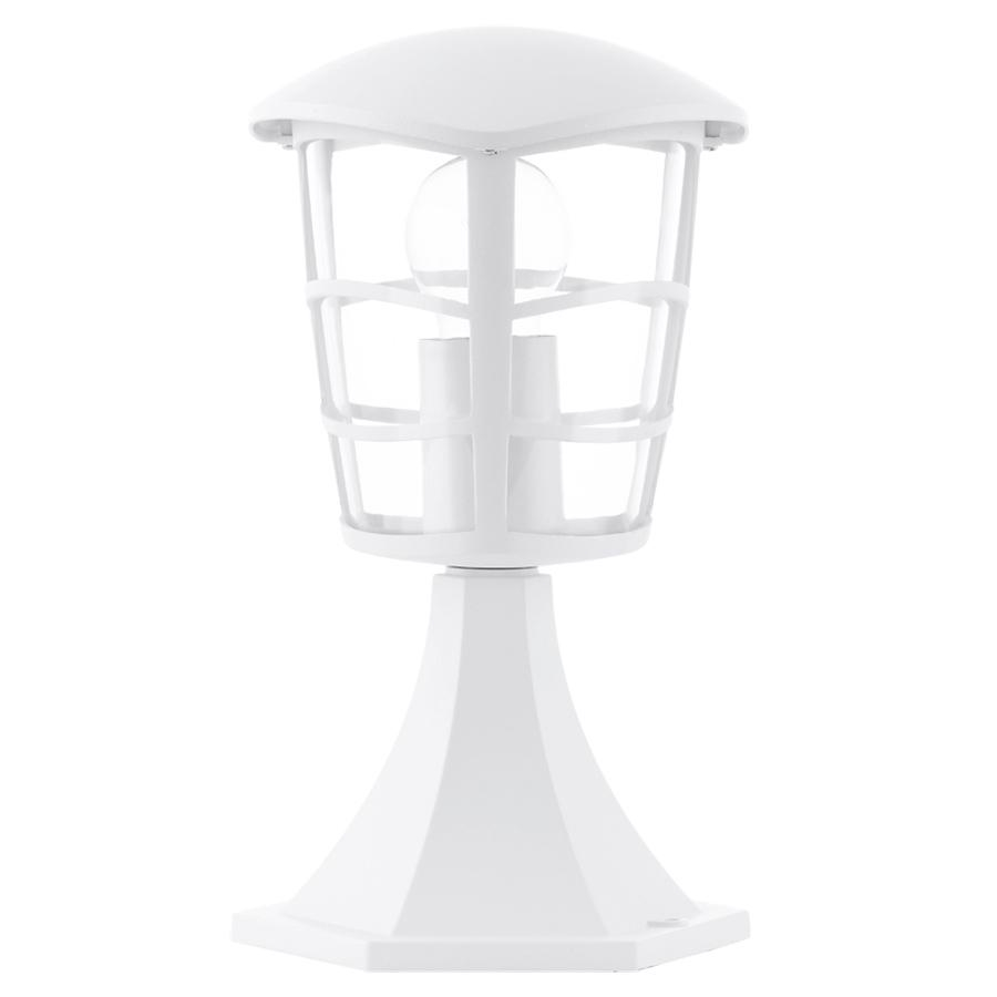 Lampadar Eglo Classic Aloria 1x60W 17x17x30cm aluminiu-plastic alb imagine sensodays.ro