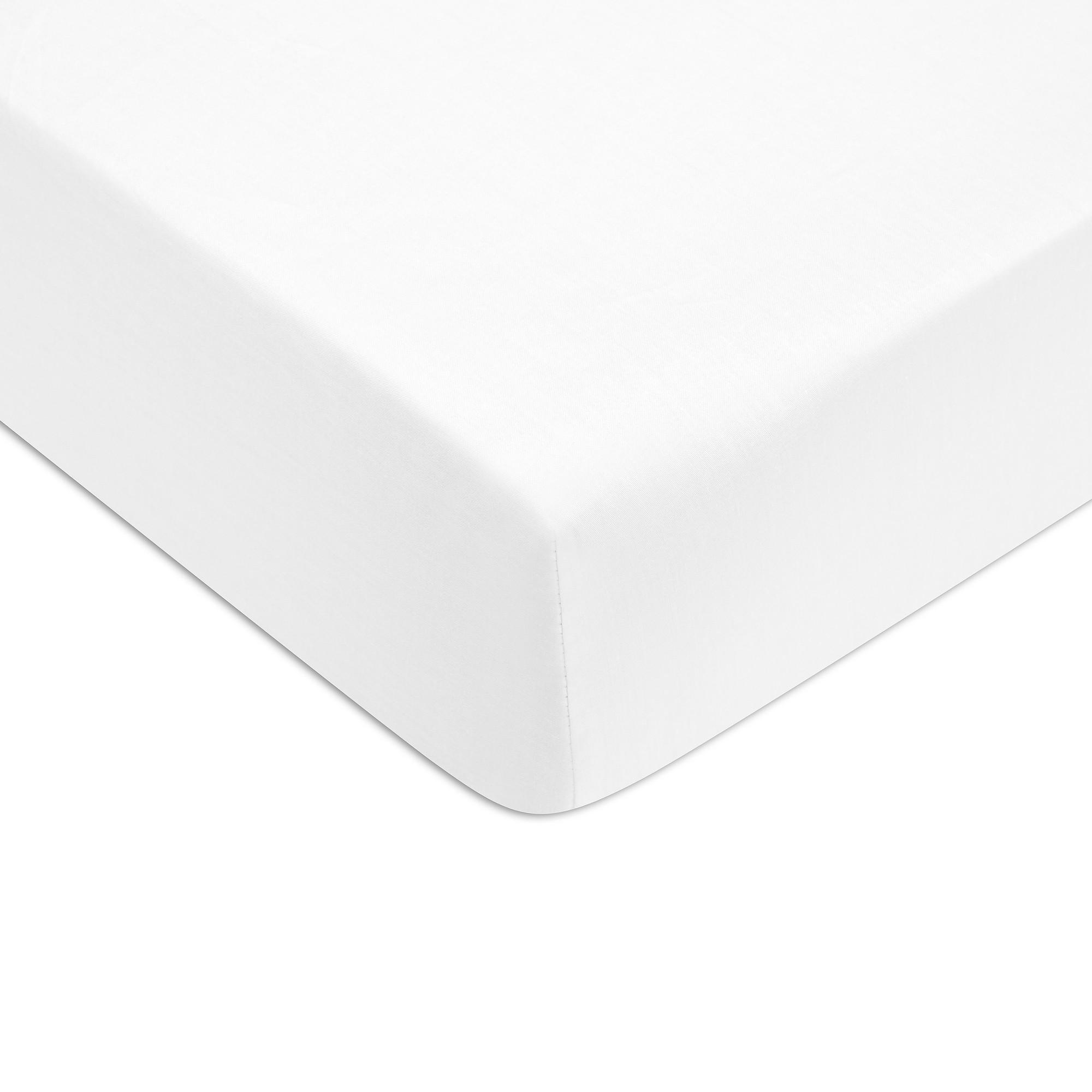 Cearceaf de pat cu elastic Tommy Hilfiger Unis Percale 160x200cm Alb poza
