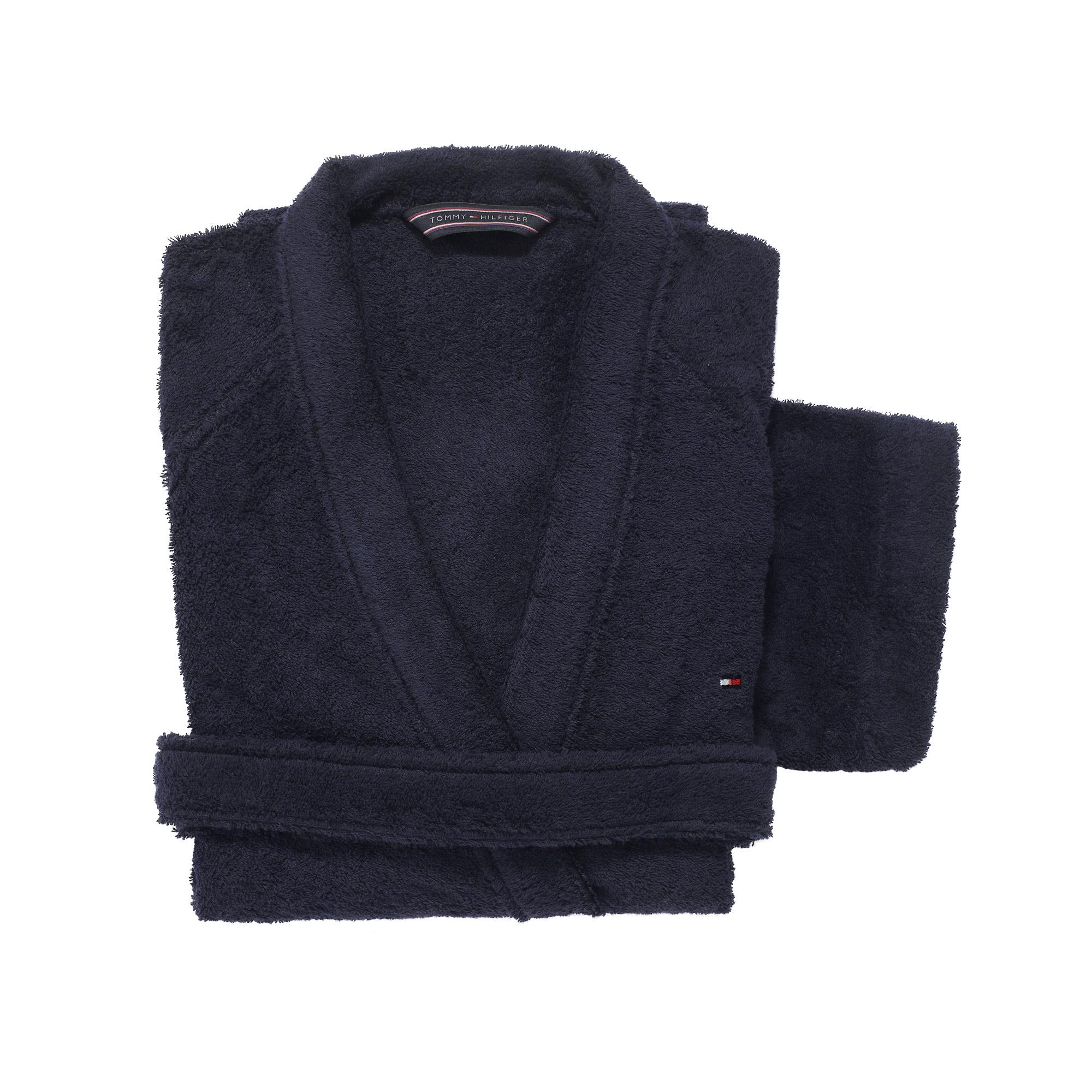Halat de baie kimono Tommy Hilfiger Plain 2 Albastru Navy imagine