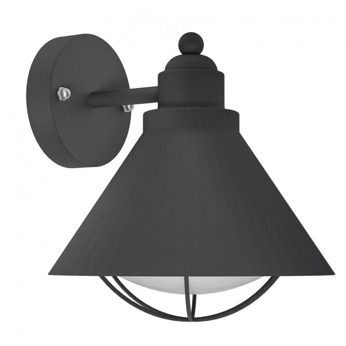 Aplica de exterior Eglo Classic Barrosela 1x40W 22x24x23cm otel negru