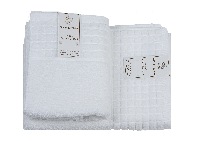 Prosop de baie Behrens Hotel Collection 70x130 cm 550gsm White imagine