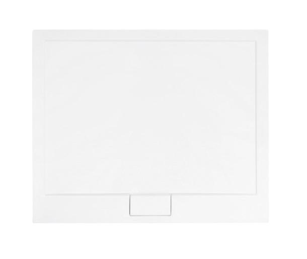 Cadita dus dreptunghiulara Besco Axim Ultraslim 110x90x4.5cm alb imagine sensodays.ro
