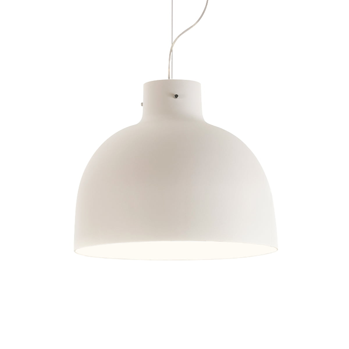 Suspensie Kartell Bellissima design Ferruccio Laviani LED 15W d50cm alb poza