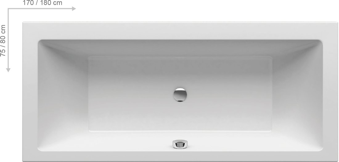 Cada baie rectangulara Ravak Formy 01 170x75cm acril poza