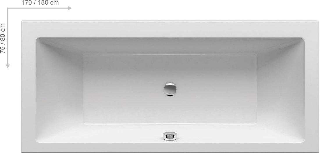 Cada baie rectangulara Ravak Formy 01 180x80cm acril