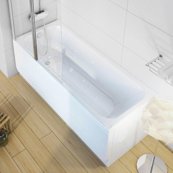 Cada baie rectangulara Ravak Concept Chrome 150x70cm acril imagine sensodays.ro