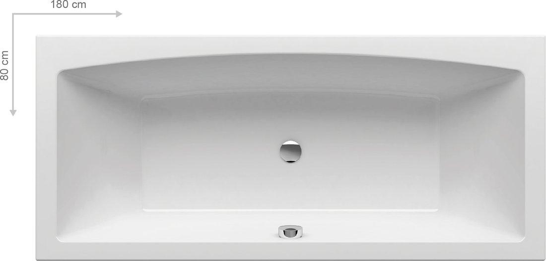 Cada baie rectangulara Ravak Formy 02 180x80cm acril poza