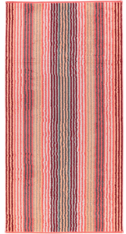 Prosop baie Cawo Unique Stripes 70x140 cm coral poza
