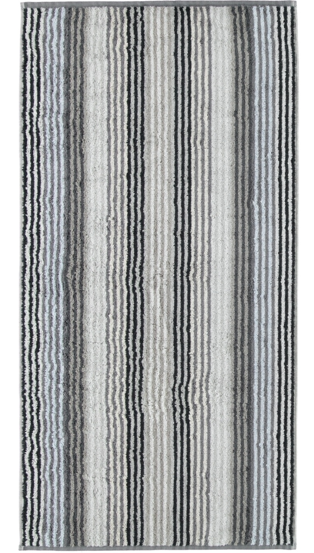 Prosop baie Cawo Unique Stripes 50x100 cm antracit poza