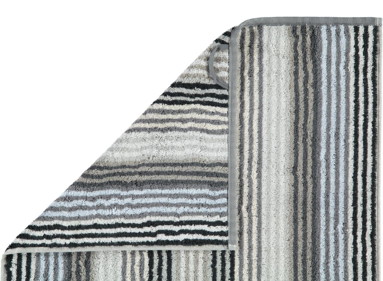Prosop baie Cawo Unique Stripes antracit poza