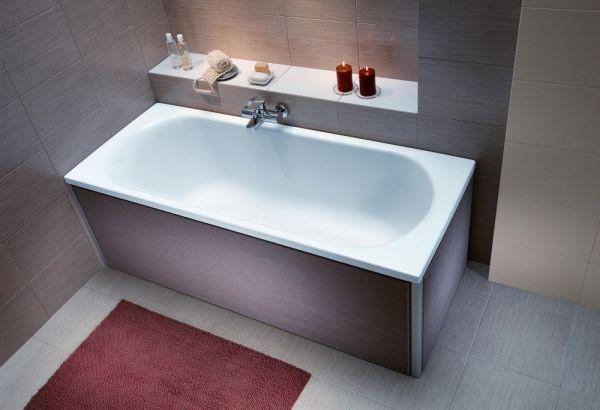 Cada baie rectangulara Kolo Opal Plus 160x70cm acril picioare incluse poza