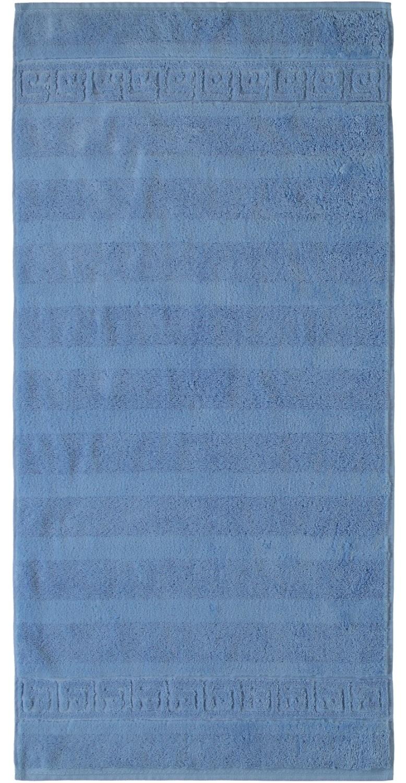 Prosop baie Cawo Noblesse Uni 50x100 cm albastru imagine