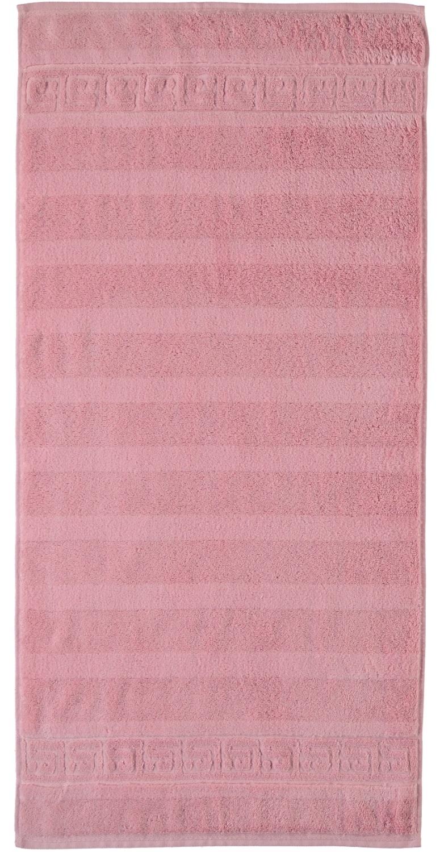 Prosop baie Cawo Noblesse Uni 50x100 cm roz antic imagine