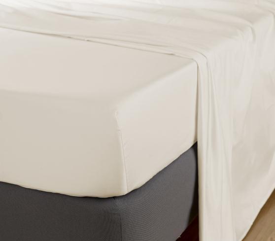 Cearceaf de pat cu elastic Behrens Egyptean Cotton 400TC 180x200cm Ivory poza