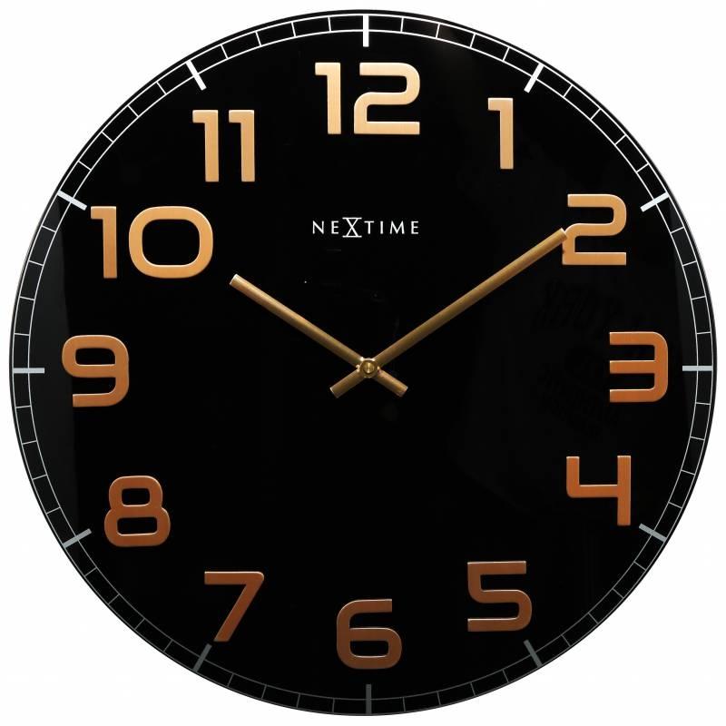 Ceas de perete NeXtime Classy Round 30cm Black