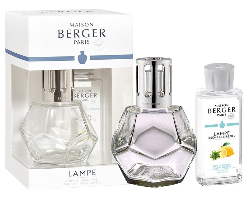 Set Berger lampa catalitica Geometry Transparente cu parfum Zeste de Verveine imagine