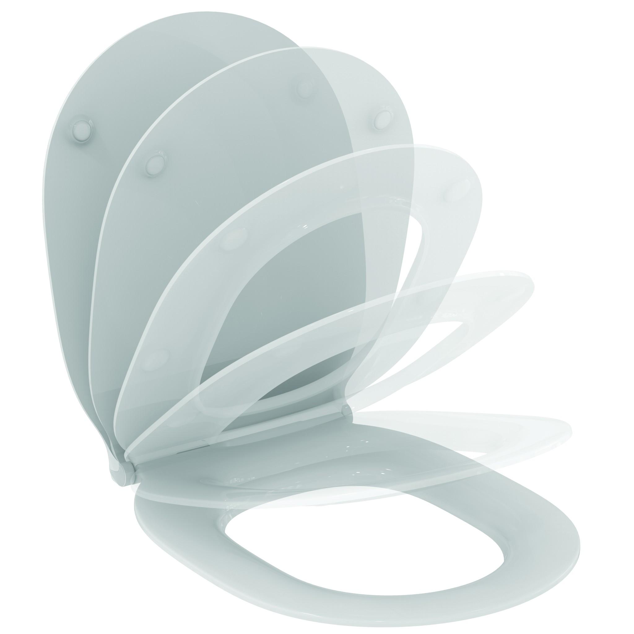 Imagine Capac Wc Ideal Standard Thin Slim Cu Inchidere Lenta Pentru Connect