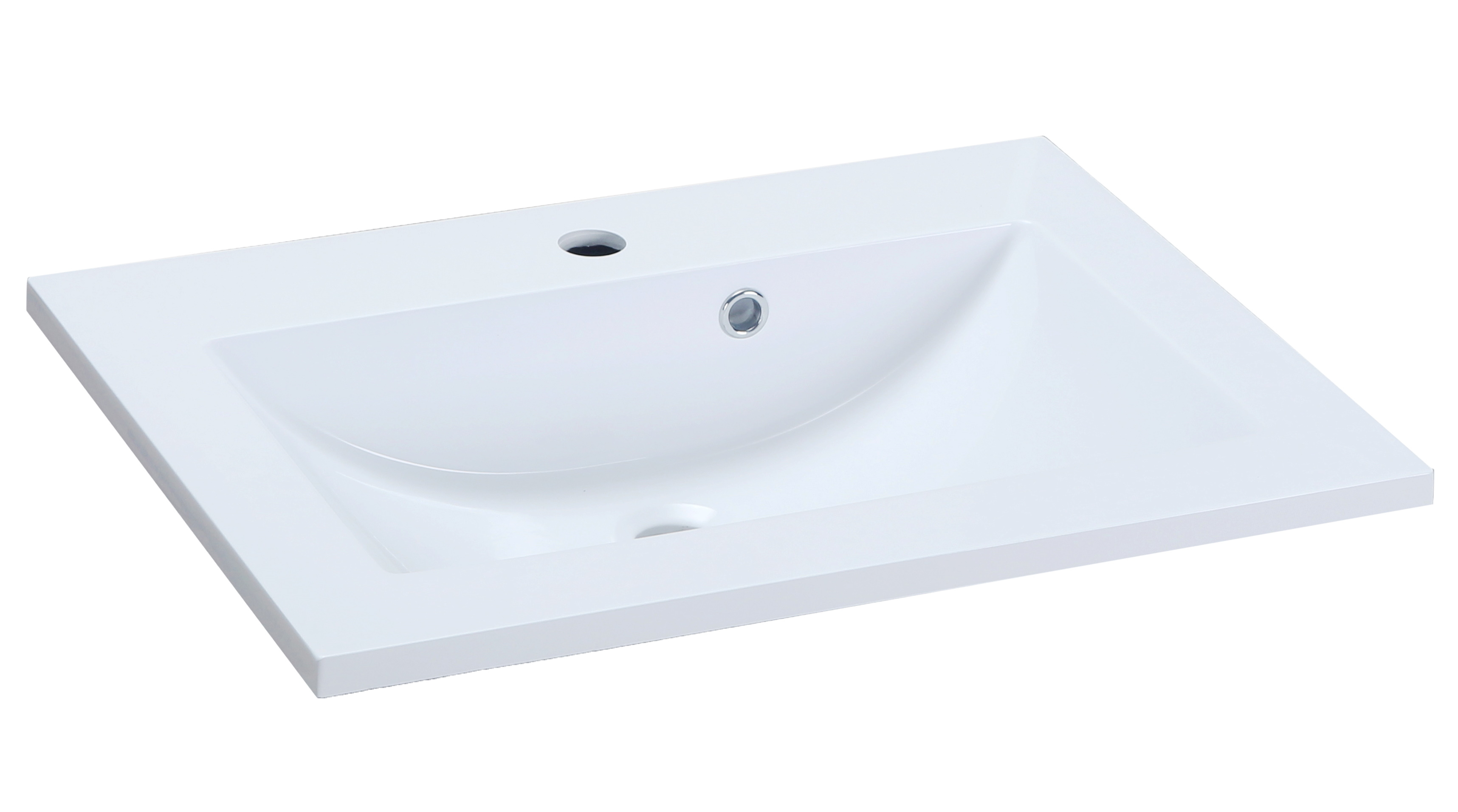 Lavoar Sanotechnik Soho 80x46cm montare pe mobilier compozit alb poza