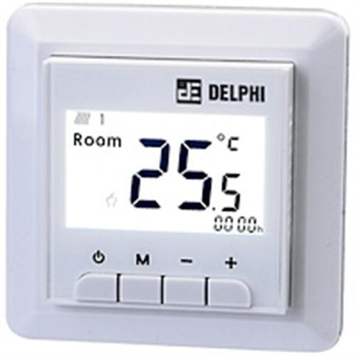 Termostat de ambient cu fir pentru interior Delex DEL9000 imagine sensodays.ro
