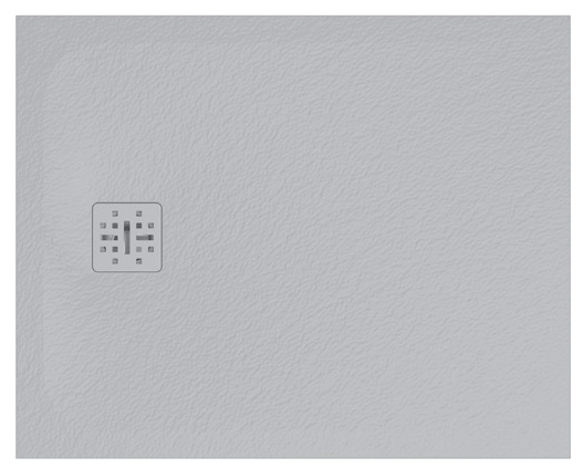 Cadita de dus dreptunghiulara Globo Docciapietra 80x100x3cm sifon inclus poza