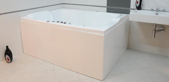 Cada baie rectangulara Belform Duo 168x126cm acril poza
