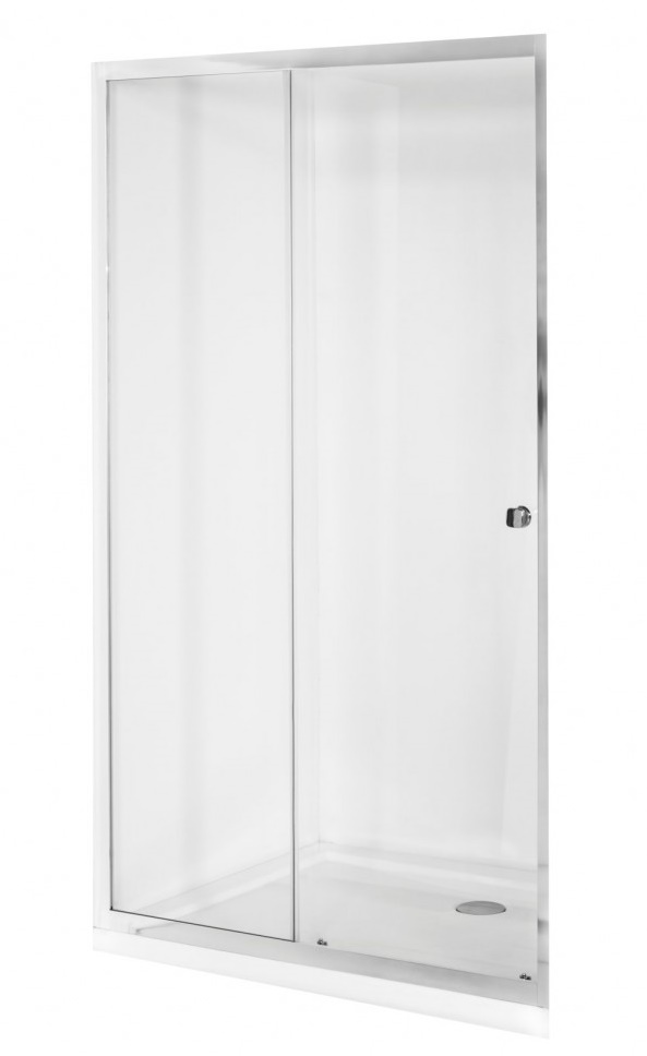 Usa de nisa culisanta Besco Duo Slide 110cm sticla transparenta securizata 6 mm imagine