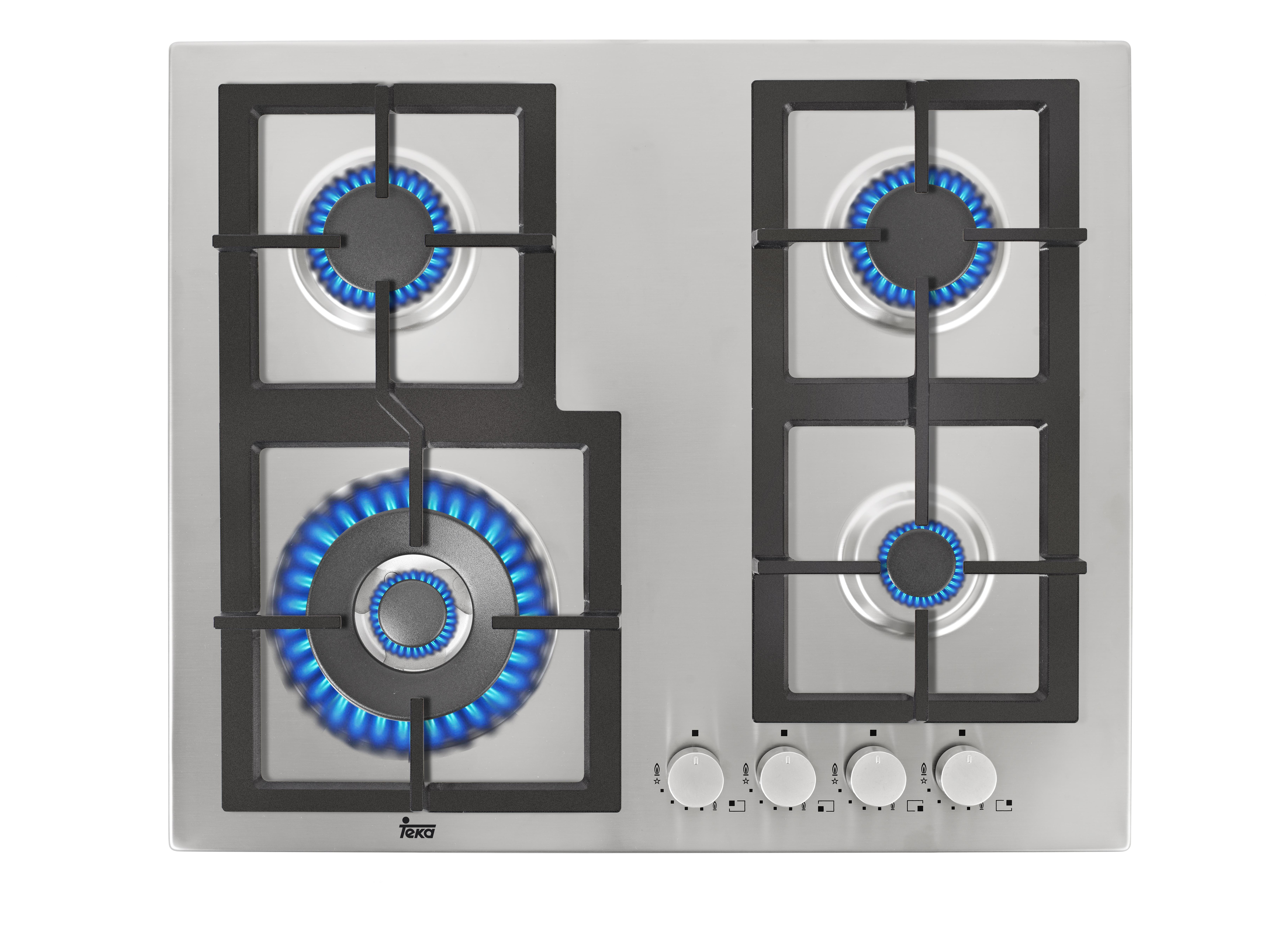 Plita gaz incorporabila Teka EFX 60 4G AI AL DR CI 4 arzatoare gratare fonta inox