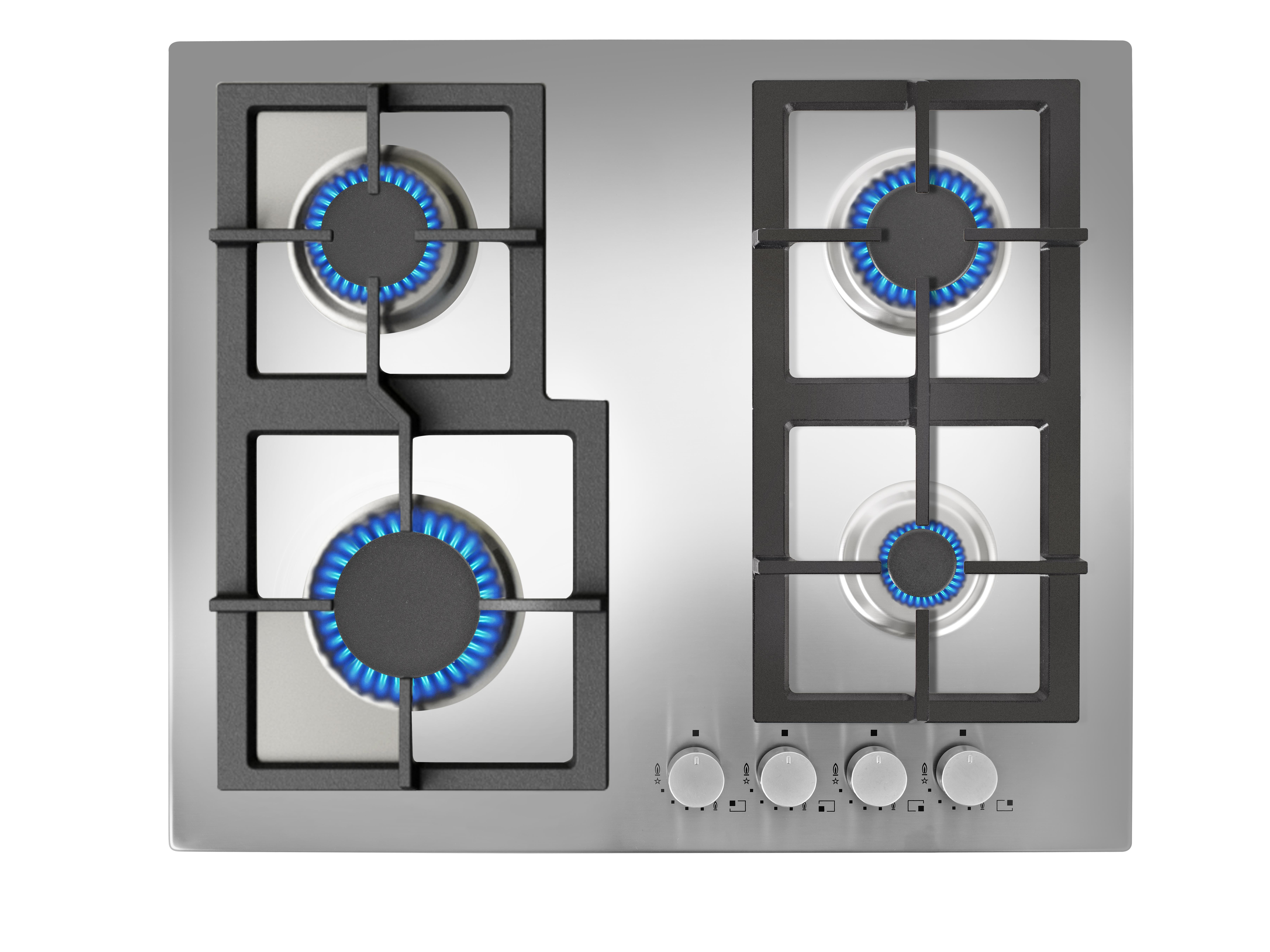 Plita gaz incorporabila Teka EFX 60 4G AI AL CI 4 arzatoare gratare fonta inox poza