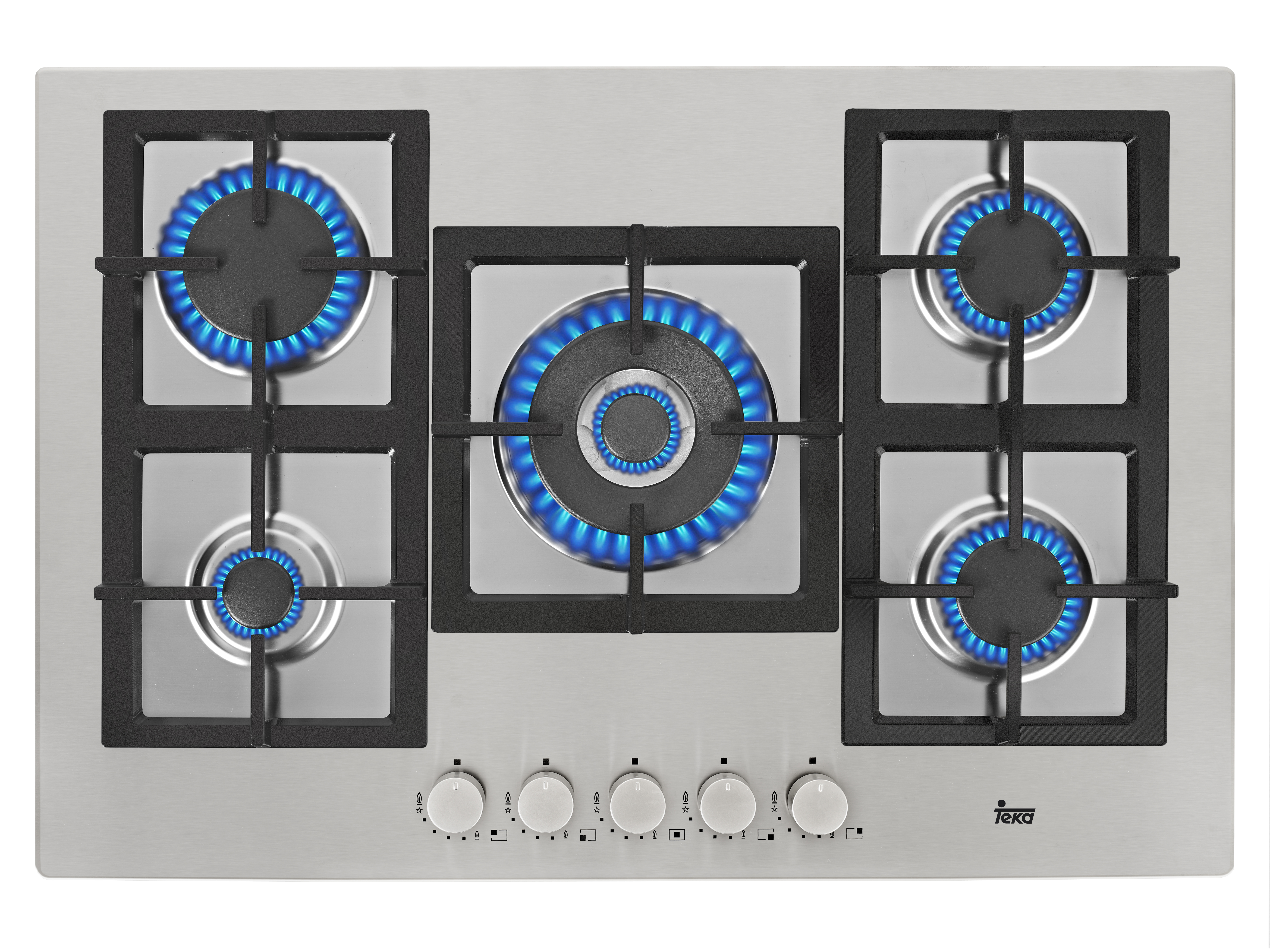 Plita gaz incorporabila Teka EFX 70 5G AI AL DR CI 5 arzatoare gratare fonta inox poza