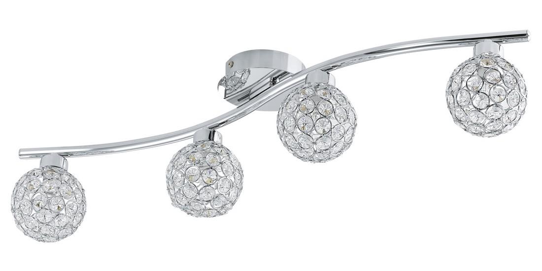 Aplica Eglo Ribolla Colectia Trend 2x33w H64cm Diametru 12 5cm Cristal