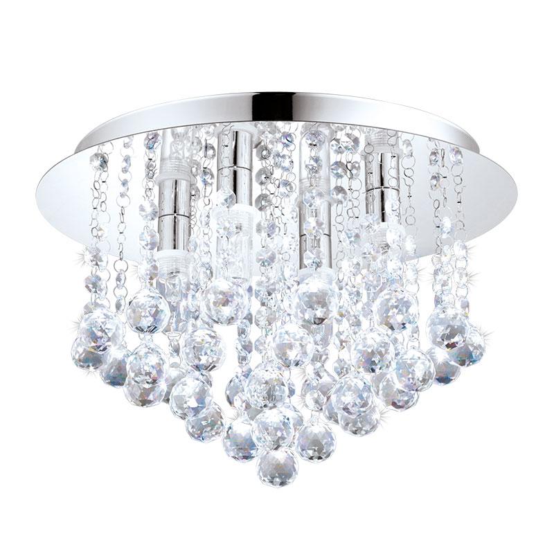 Aplica de tavan LED Eglo Style Almonte 4x2.5W h23cm crom poza