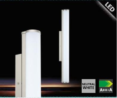 Aplica Eglo Calnova 60cm colectia Style Nichel mat sticla satinata Alb poza
