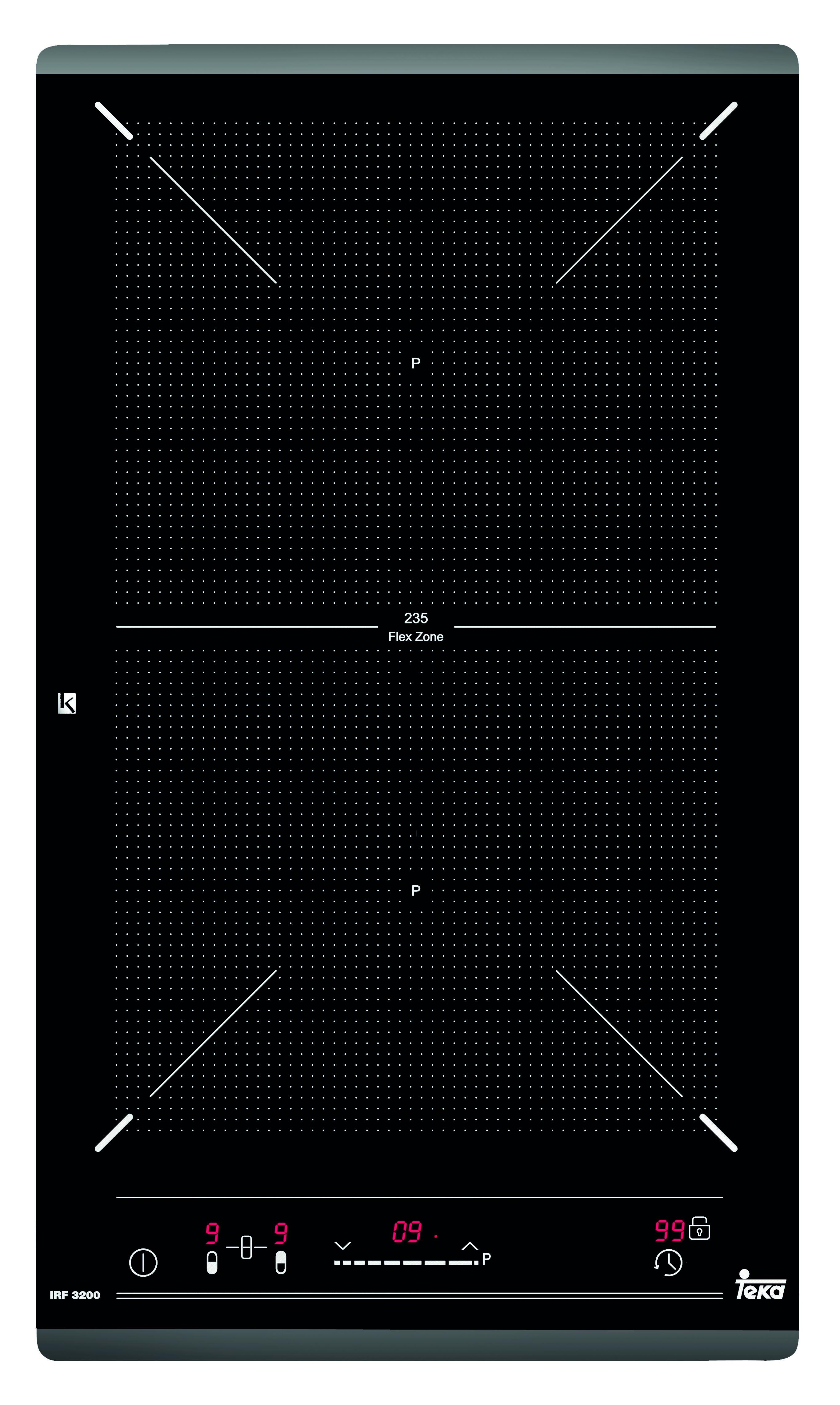 Plita inductie incorporabila Teka Space IRF 3200 Domino 2 zone Teka Flex 30cm negru
