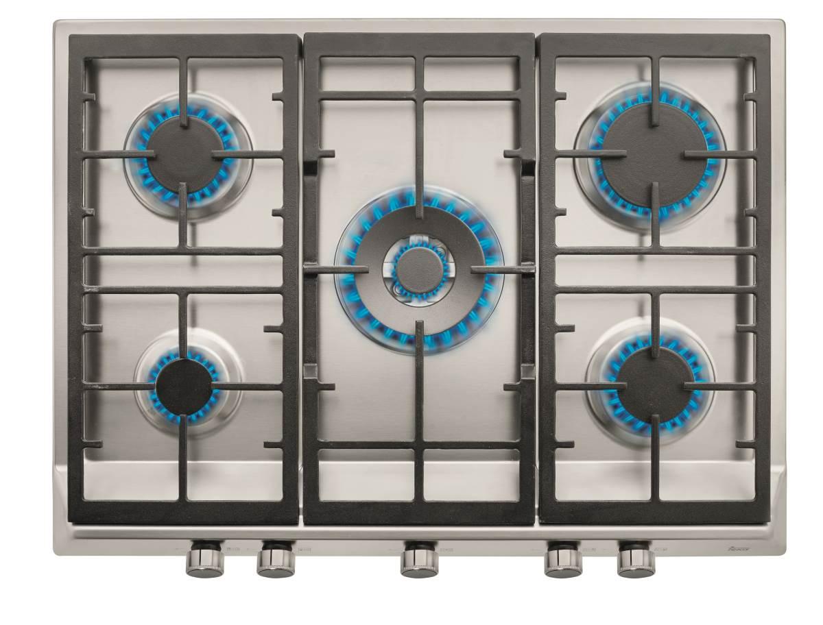 Plita gaz incorporabila Teka EX 70.1 5G AI AL DR CI cu 5 arzatoare 70 cm gratare fonta inox poza