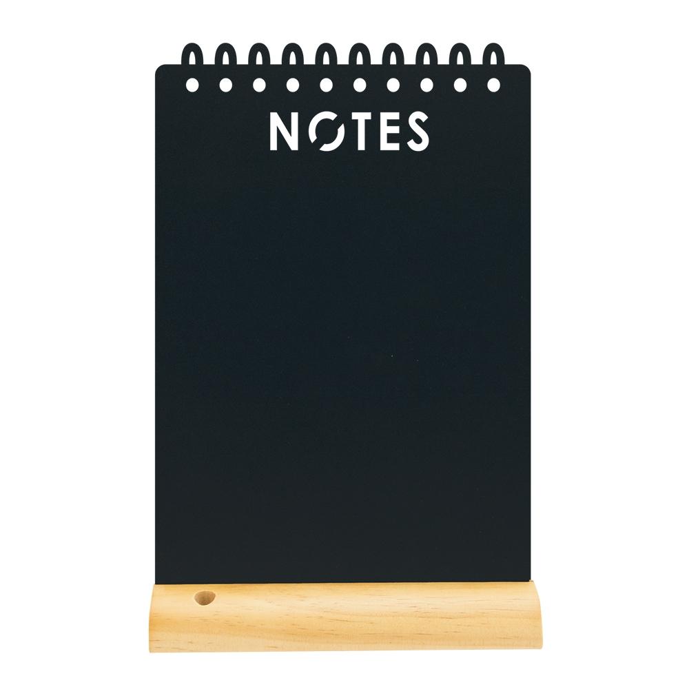 Tabla de scris Securit Silhouette Notes 34x21x6cm baza de lemn include marker creta negru poza