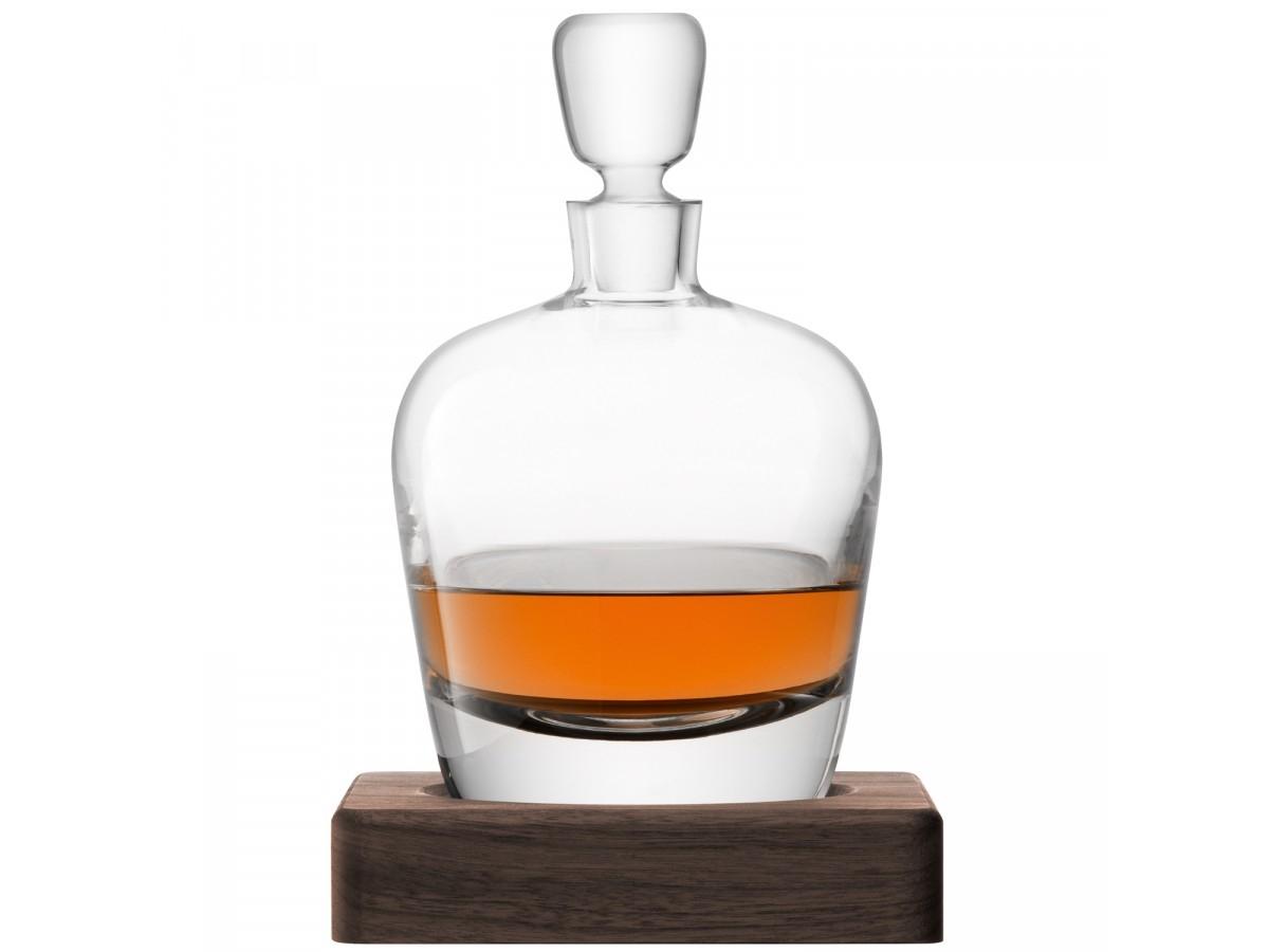 Decantor cu dop LSA International Whisky Arran 1 litru cu suport lemn nuc