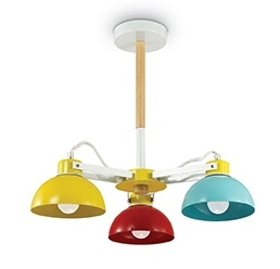 Lustra Ideal Lux Titti PL3 3x60W E27 d47cm h43.5cm multicolor poza