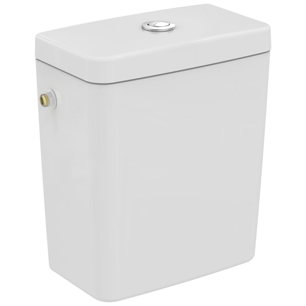 Rezervor Ideal Standard pentru vas wc pe pardoseala Connect Cube alimentare laterala alb imagine sensodays.ro