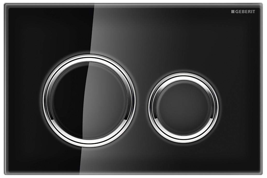 Clapeta actionare Geberit Sigma21 negru-crom lucios imagine sensodays.ro