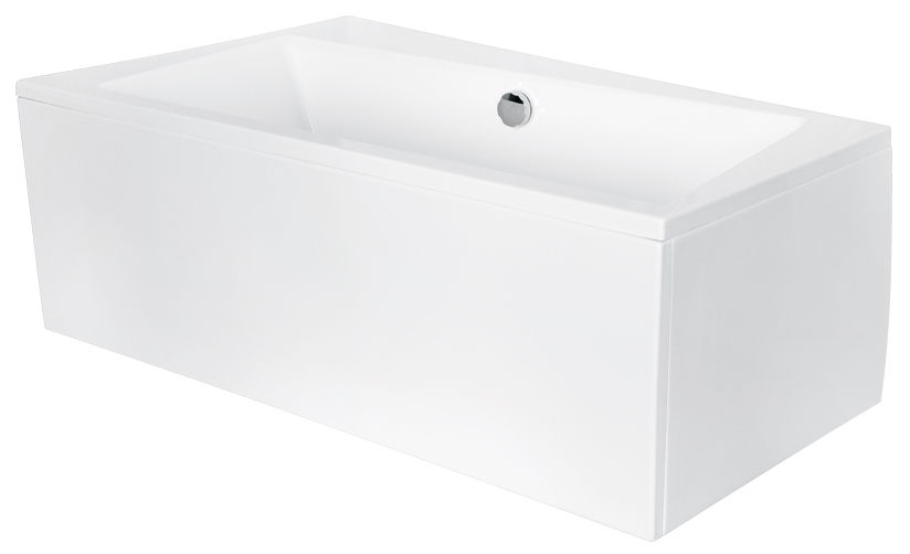 Cada baie asimetrica Besco Infinity 160x100cm acril orientare stanga poza