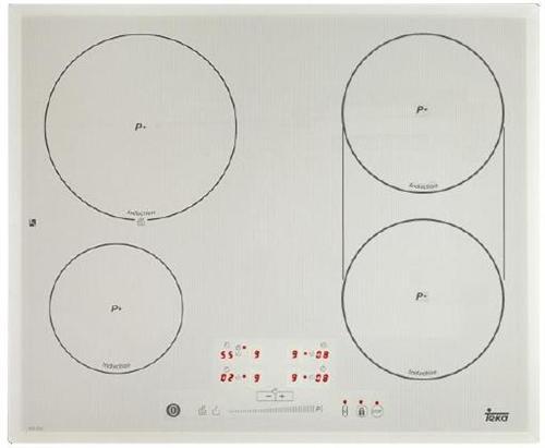 Plita incorporabila cu inductie Teka IQS 643 4 zone de gatit 60x51cm gri-metal